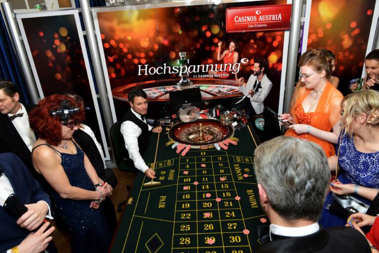 Hochspannung am mobilen Roulettetisch der Casinos Austria © Manfred Sebek